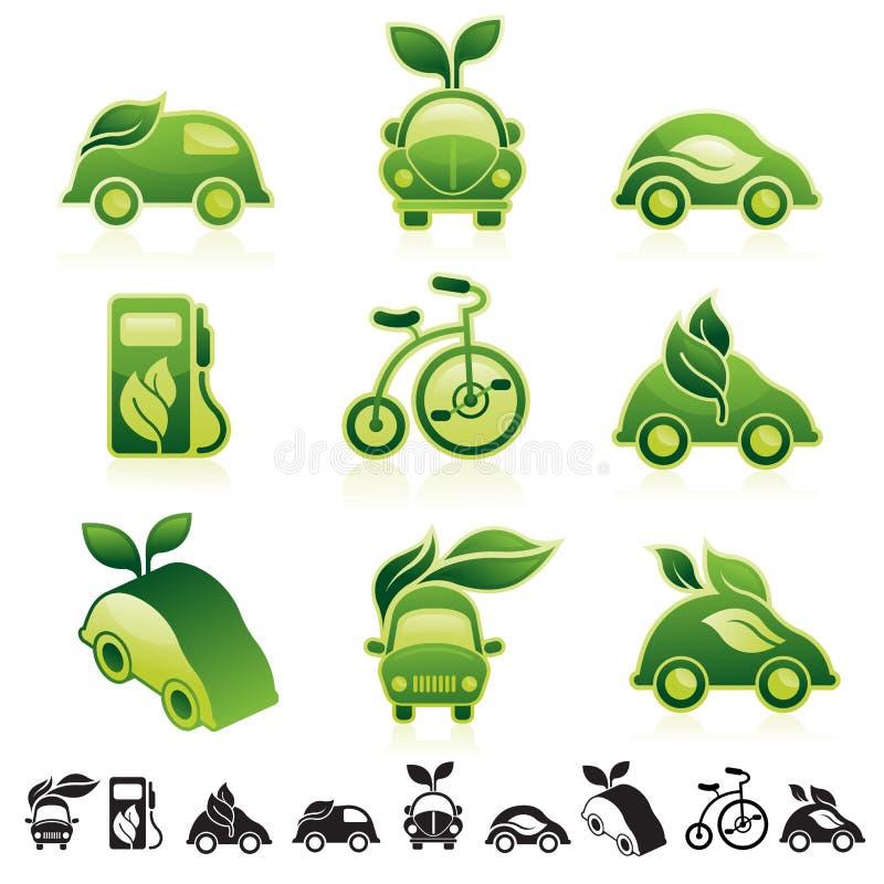 Eco图标集 库存例证