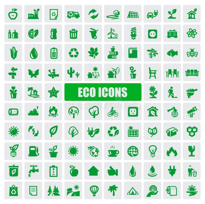 Eco图标 皇族释放例证