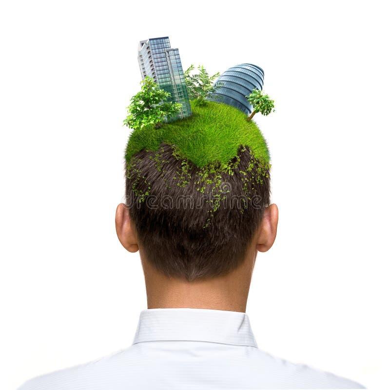 eco头脑 免版税库存图片