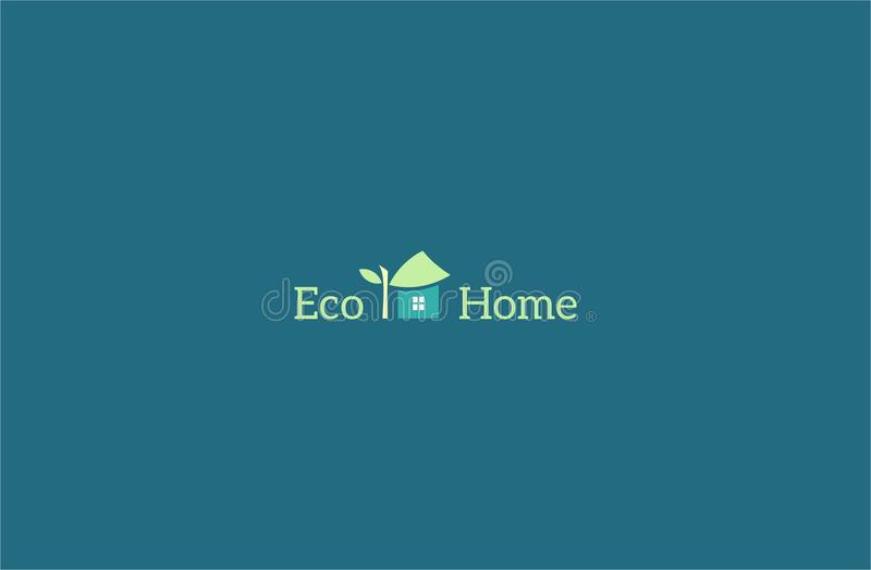 Eco家庭商标模板 库存例证