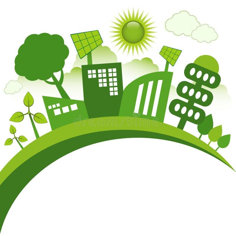 Eco市 库存例证