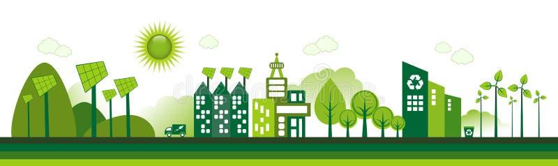 Eco市 皇族释放例证