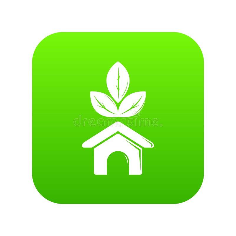 Eco房子象绿色传染媒介 库存例证