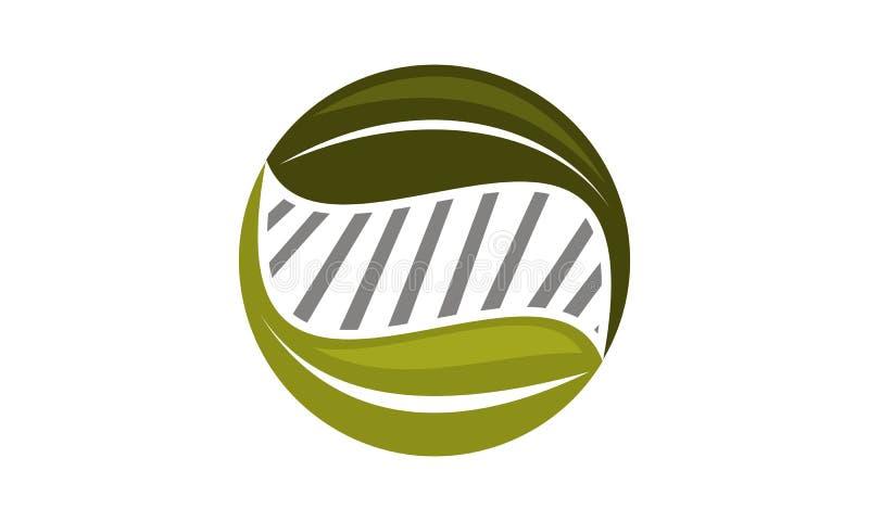 Eco技术商标设计模板 库存例证