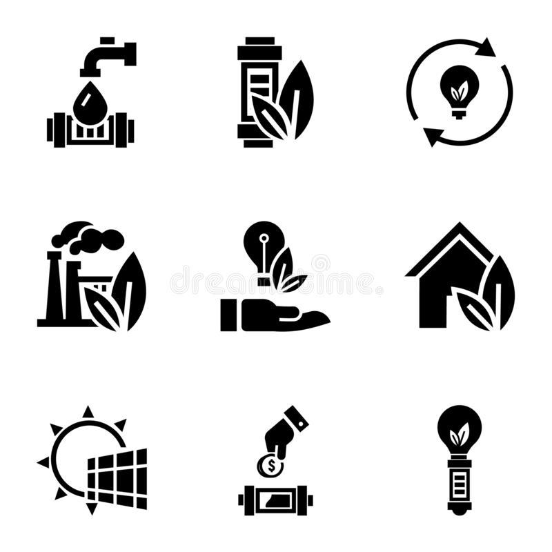 Eco救星能量象集合,简单的样式 皇族释放例证