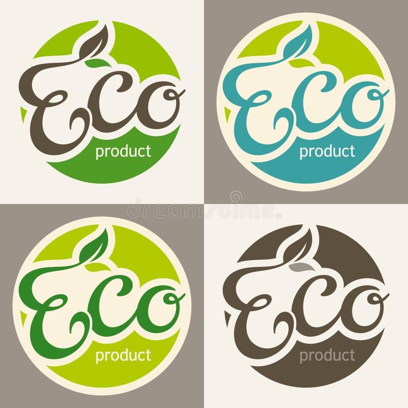 Eco标签 向量例证