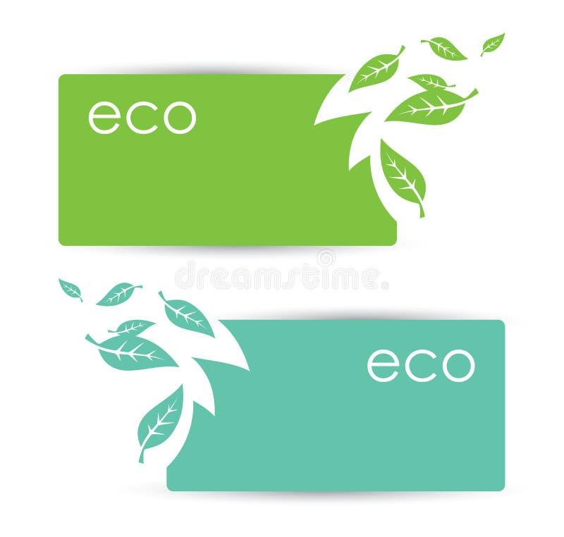 Eco横幅 向量例证