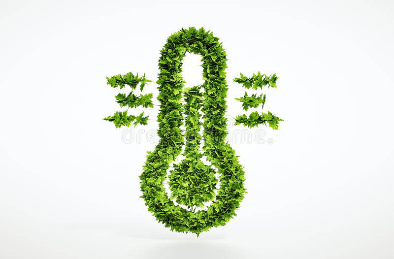 Eco气候变化标志 库存例证