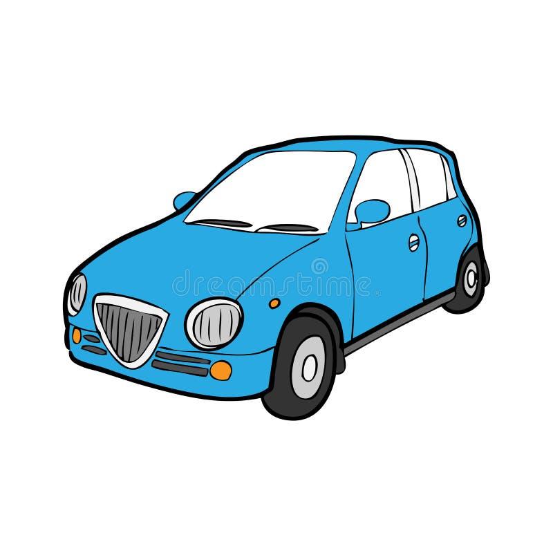 Eco汽车动画片图画 库存例证
