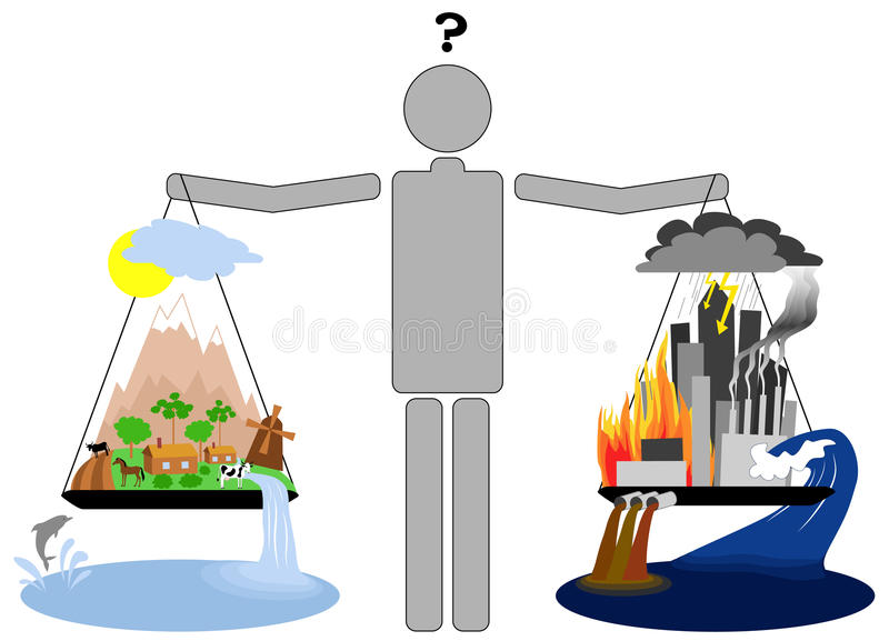 Eco生活方式与都市生活方式 库存例证