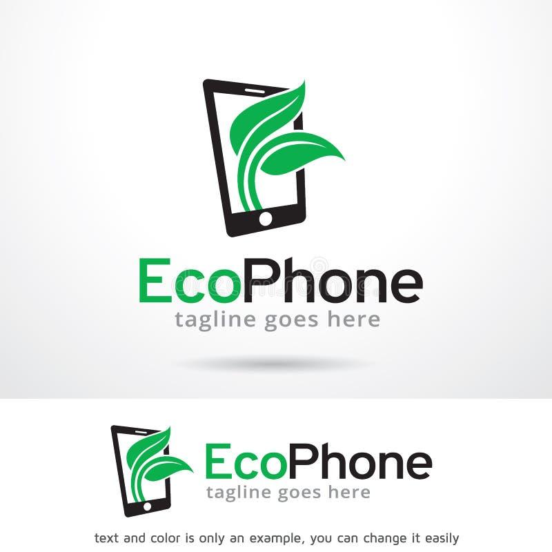 Eco电话商标模板设计传染媒介 向量例证