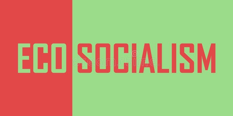 Eco社会主义/环境社会主义 向量例证