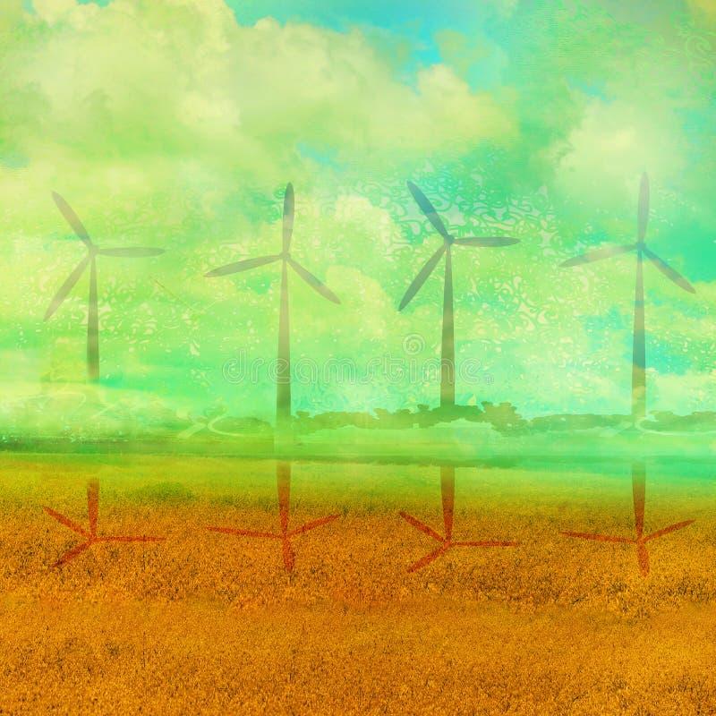 Eco种田-风景 皇族释放例证