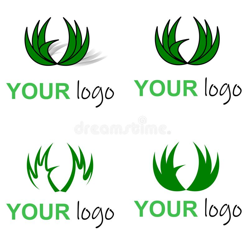 Eco绿色商标,圈子留下草 皇族释放例证