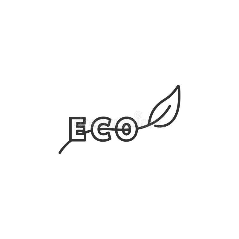 eco绿色图标 简单的元素例证 Eco绿化从生态汇集集合的标志设计 能用于网和机动性 向量例证