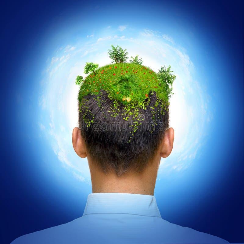 eco绿色头脑 库存例证