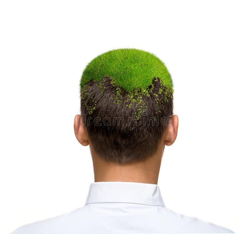 eco绿色头脑 免版税库存照片