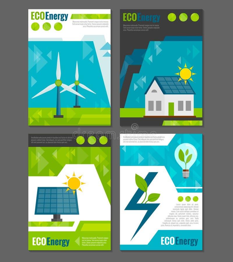 Eco能量象海报 皇族释放例证