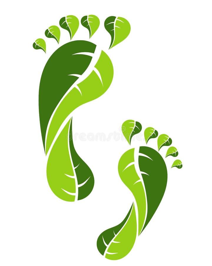 eco脚印绿色 皇族释放例证