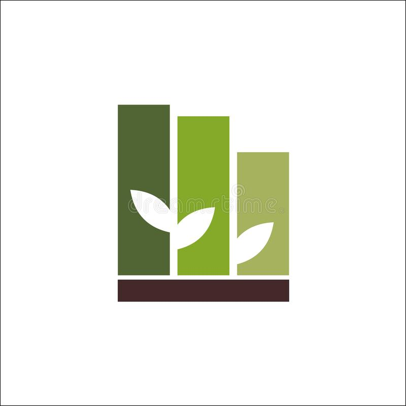 Eco自然大厦商标传染媒介模板 皇族释放例证