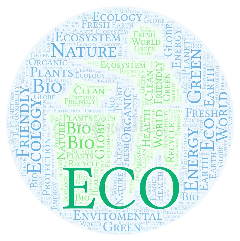Eco词云彩 向量例证