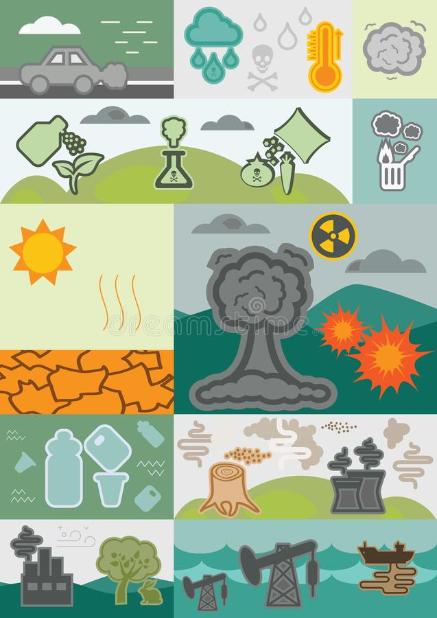 Eco问题块 库存例证