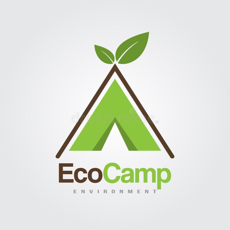 Eco阵营商标模板 皇族释放例证