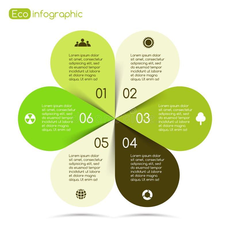 eco项目的现代传染媒介信息图表 向量例证