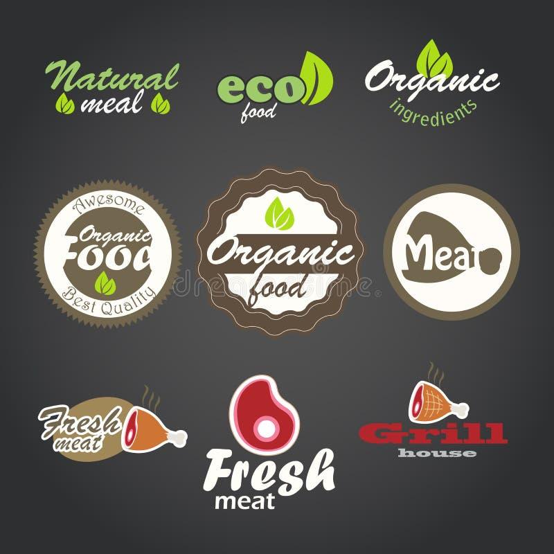 eco食物新鲜的产品 皇族释放例证