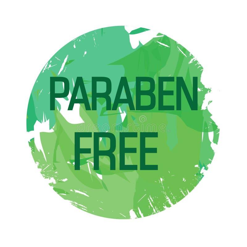 Eco,生物绿色商标,贴纸,标志 有机设计模板 与绿色的概念象 库存例证
