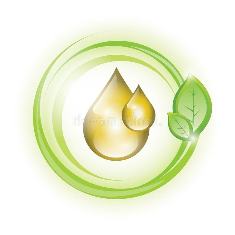 Eco Öltropfen stock abbildung