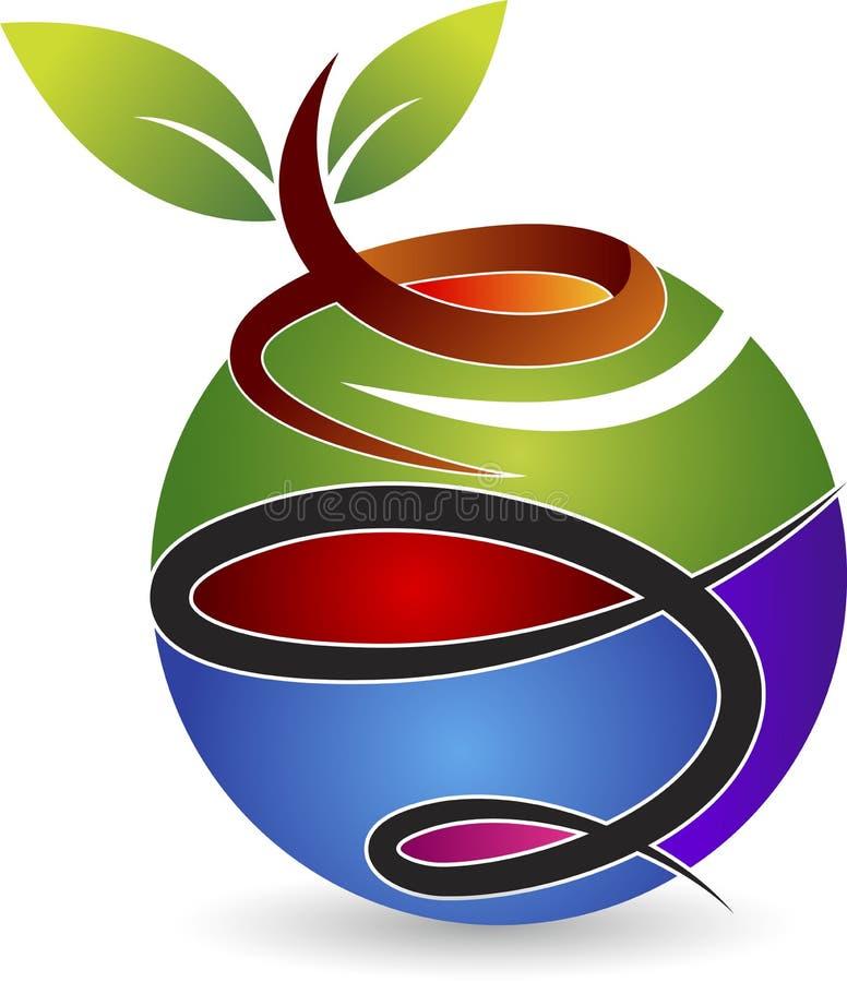 Eco światu logo royalty ilustracja