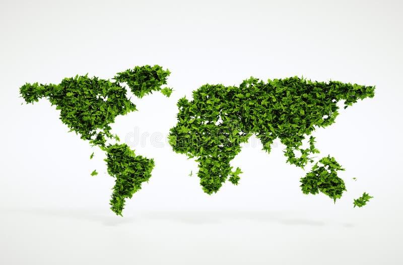 Eco światu pojęcie royalty ilustracja