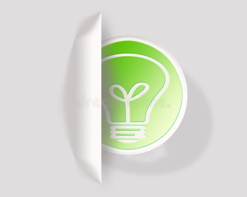 Eco żarówki energii ikona obraz stock
