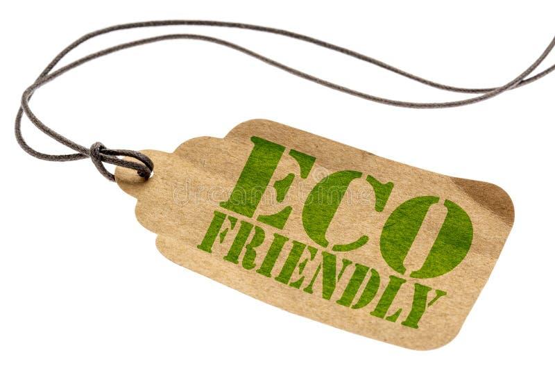 Eco życzliwa odosobniona etykietka obraz stock