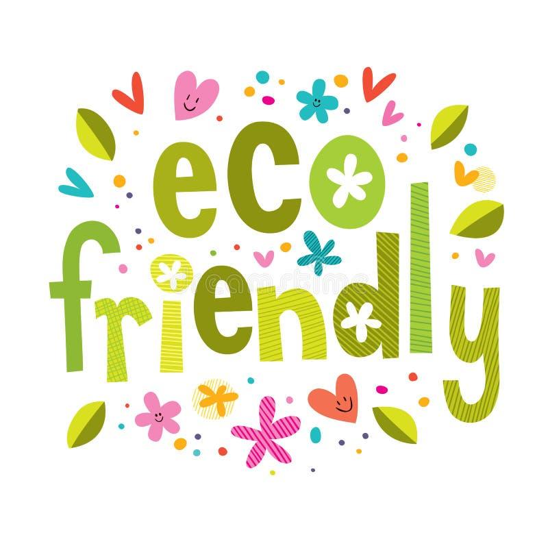Eco życzliwy royalty ilustracja