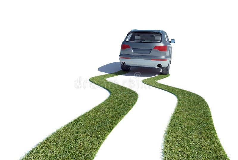 eco έννοιας αυτοκινήτων φιλικό διανυσματική απεικόνιση