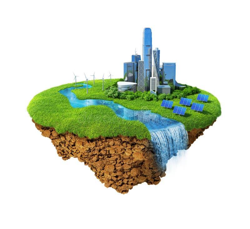 eco έννοιας πόλεων διανυσματική απεικόνιση