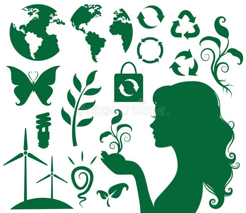 Eco και πράσινος ελεύθερη απεικόνιση δικαιώματος