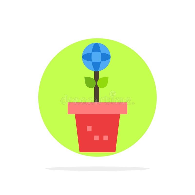 Eco, περιβάλλον, φόρμα, φύση, εγκαταστάσεων αφηρημένο κύκλων εικονίδιο χρώματος υποβάθρου επίπεδο διανυσματική απεικόνιση