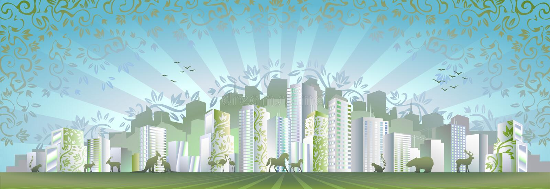 eco πόλεων διανυσματική απεικόνιση