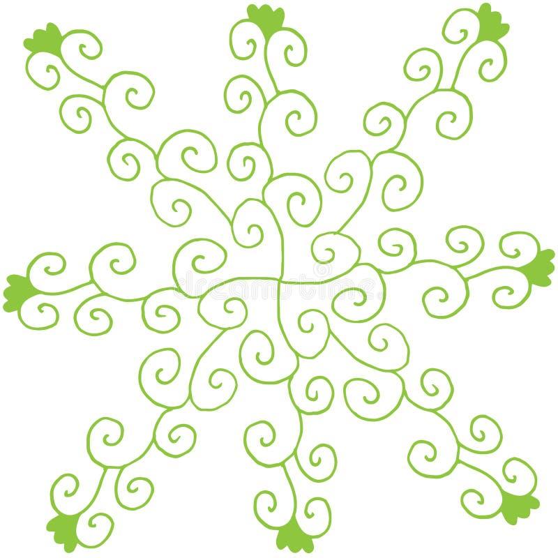 Eco σχεδίων χεριών και υπόβαθρο φύσης από τα στοιχεία εγκαταστάσεων διανυσματική απεικόνιση doodle ελεύθερη απεικόνιση δικαιώματος