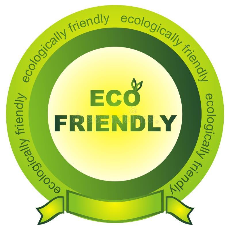 eco φιλικό διανυσματική απεικόνιση