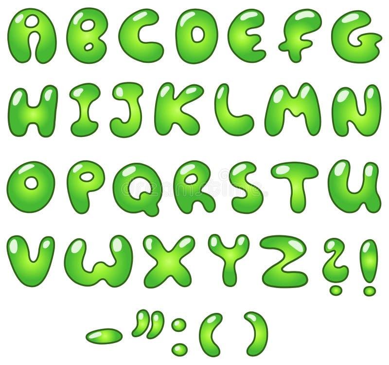 eco φυσαλίδων αλφάβητου ελεύθερη απεικόνιση δικαιώματος
