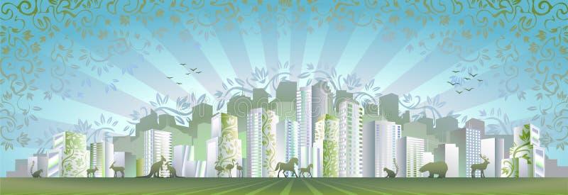 eco города иллюстрация вектора