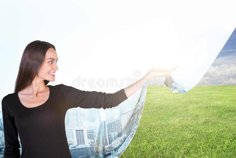 Eco и концепция природы стоковое изображение rf