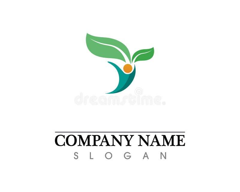 Eco, лист, атлетические, баланс, тело, бренд, забота, клуб, творческий стоковые изображения rf