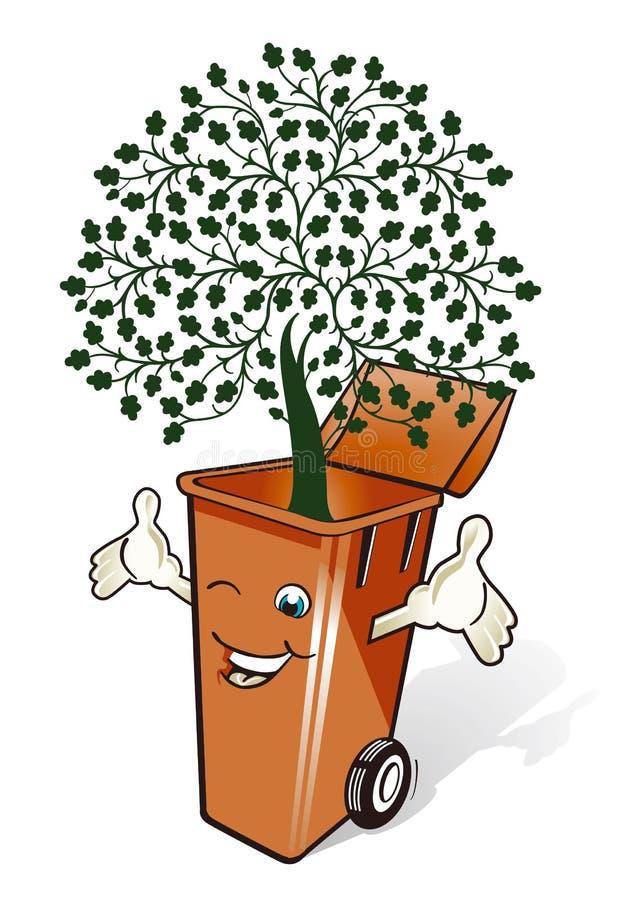 Eco мусорной корзины Стоковые Фото