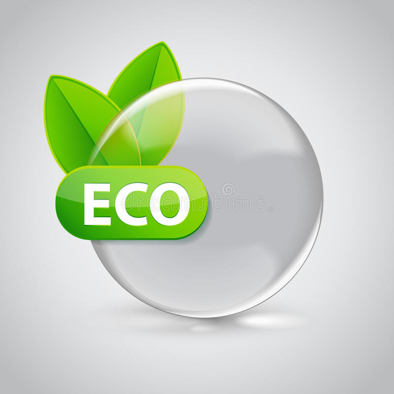 Download Eco подписывает внутри стеклянную сферу 3D с зелеными листьями Иллюстрация вектора - иллюстрации насчитывающей круг, цвет: 40585560