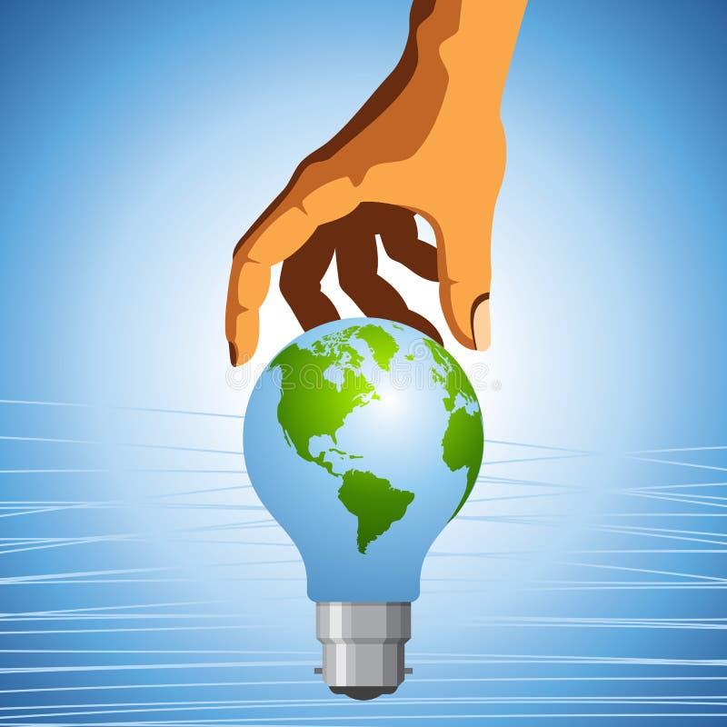 Eco- спасение земля иллюстрация вектора